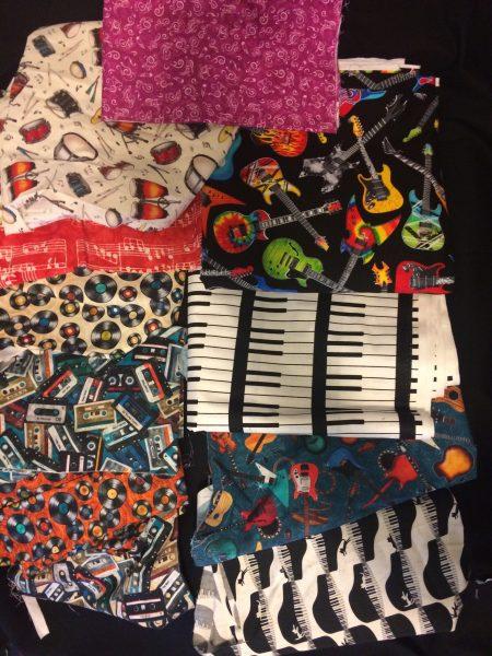 Some of my latest music fabrics